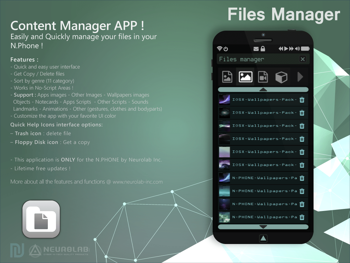 Files Manager App - N Phone
