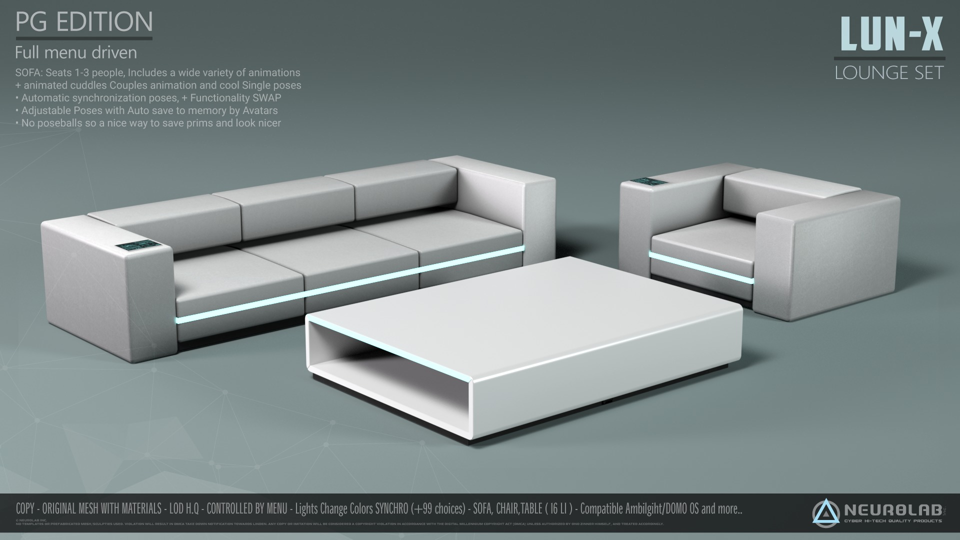 LUN-X SOFA LOUNGE SET Collection (V.1)