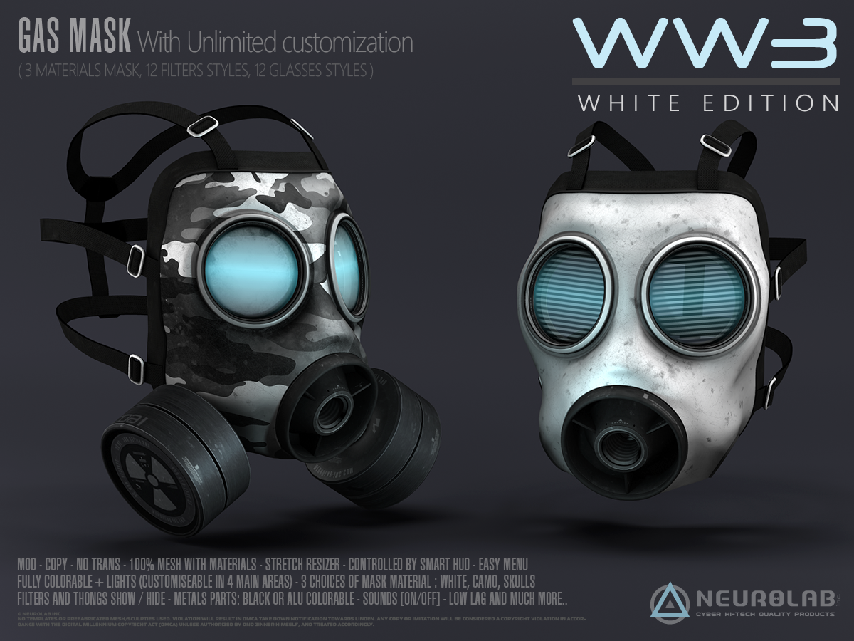 GAS MASK's WW3 (Black & White)