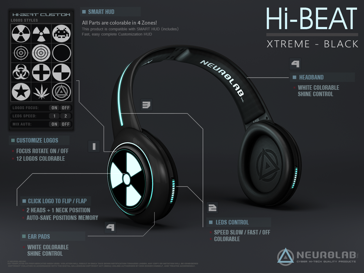Hi-BEAT 4 Xtreme (Black & White)