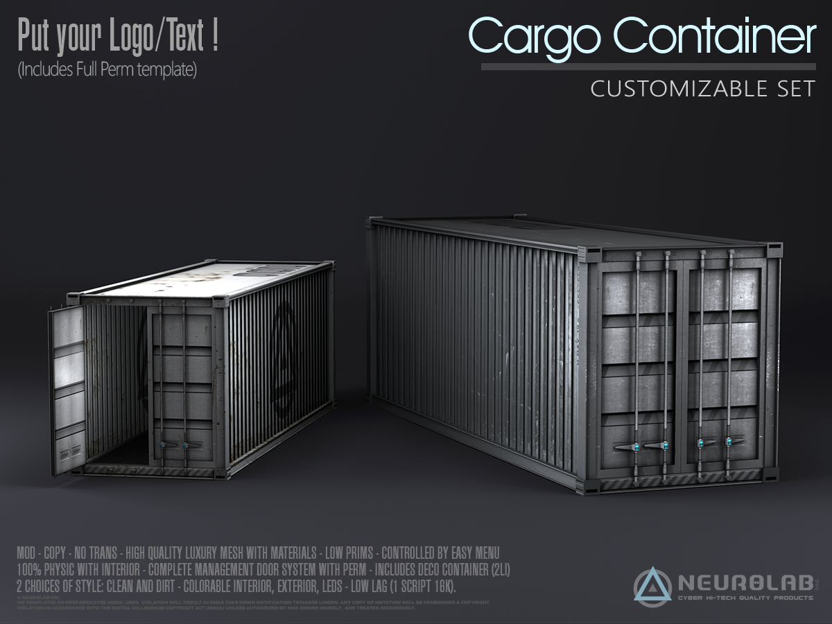 Cargo Containers Kit (Custom Set)