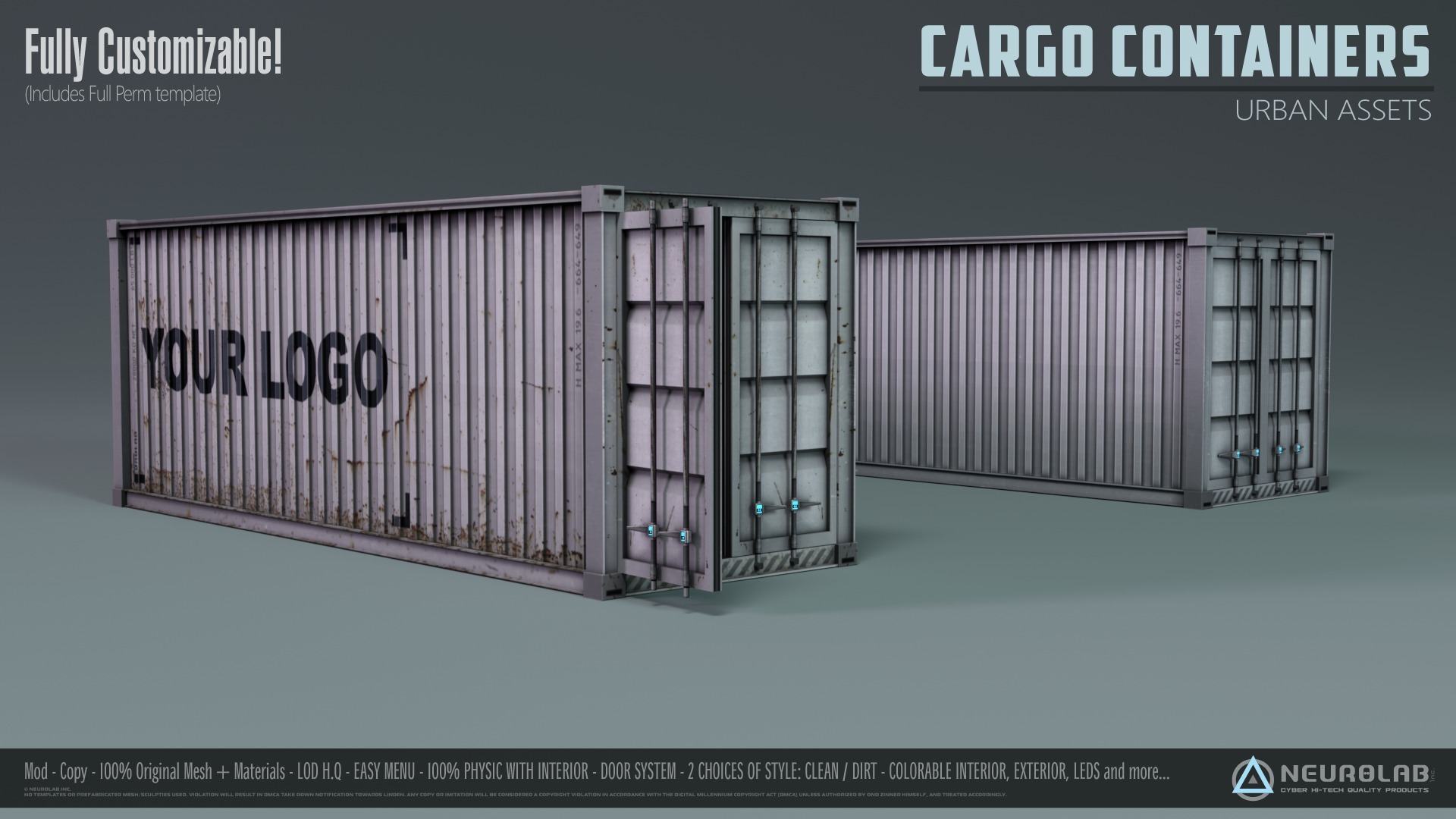 Cargo Containers (Customizable)