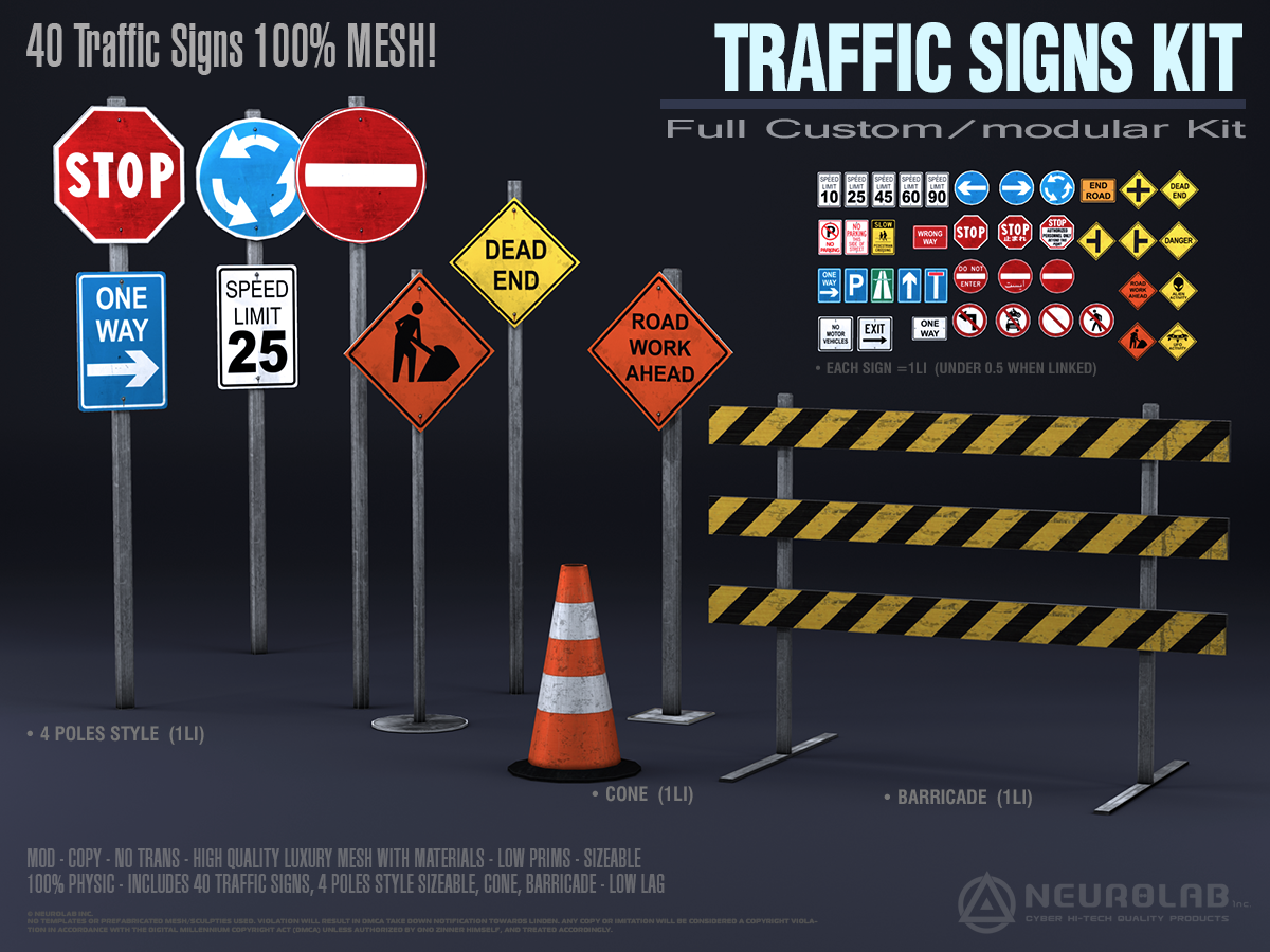 TRAFFIC SIGNS KIT