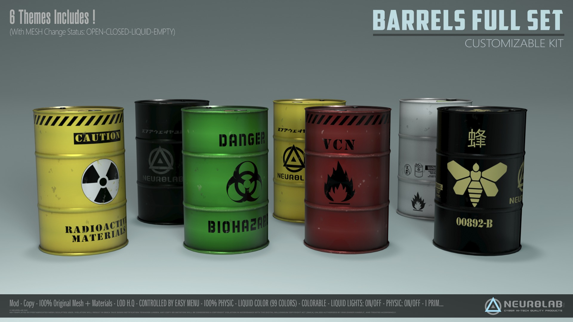BARRELS FULL SET (CUSTOMIZABLE KIT)