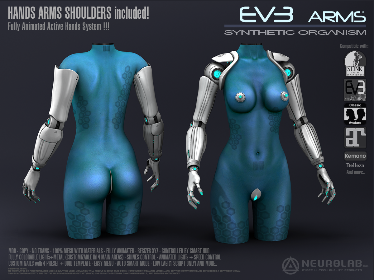 EV3 ARMS+HANDS *NEW V.2*