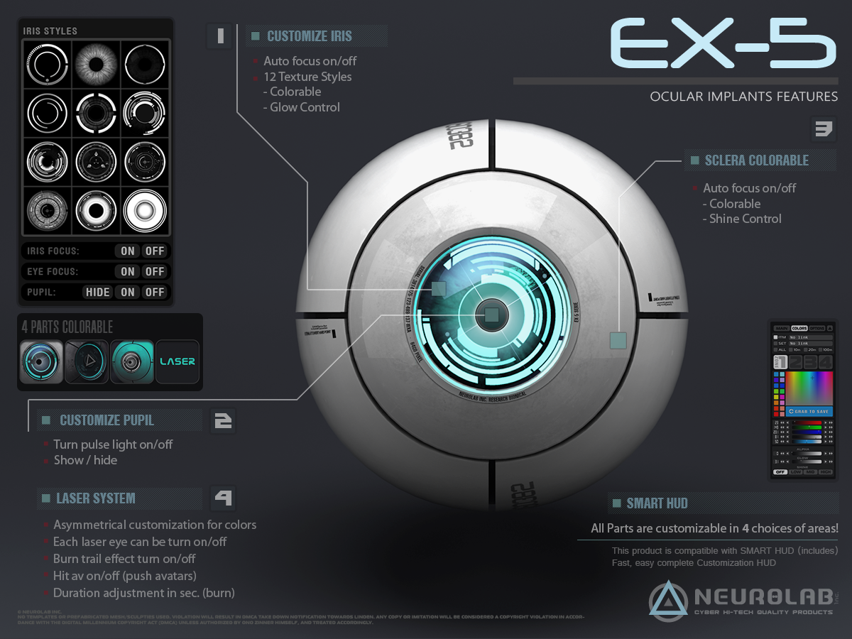 Ocular Implants EX-5 V.3 (LASER System Edition) [FR]