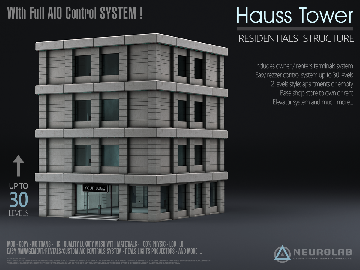 HAUSS TOWER Store/Apartments AIO (V.2.5) *Update*