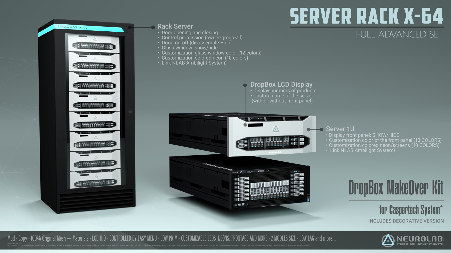 Server and Racks X-64 (Full Set Caspertech Dropbox)