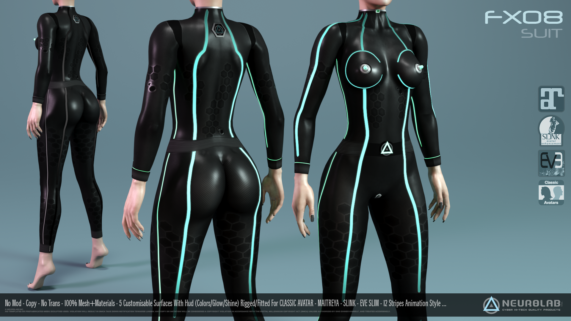 FX08 CatSuit for Women (100% Fitted) *Update V.1.5*