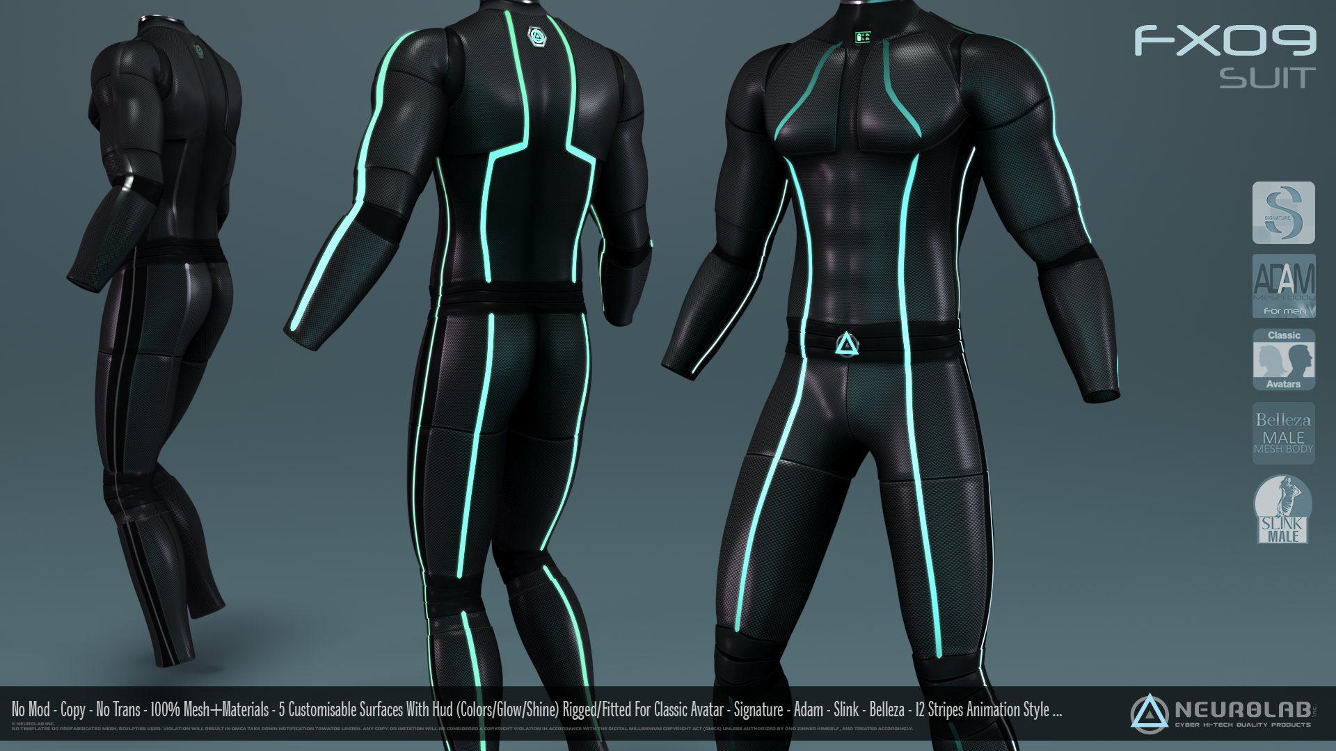 FX09 CatSuit for Men (100% Fitted) *Update V.1.5*