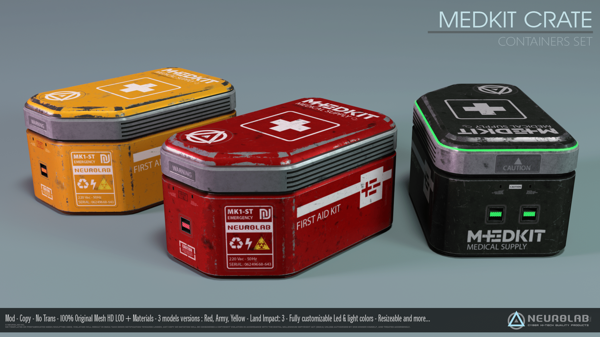 Ammunition & MedKit Containers *NEW*