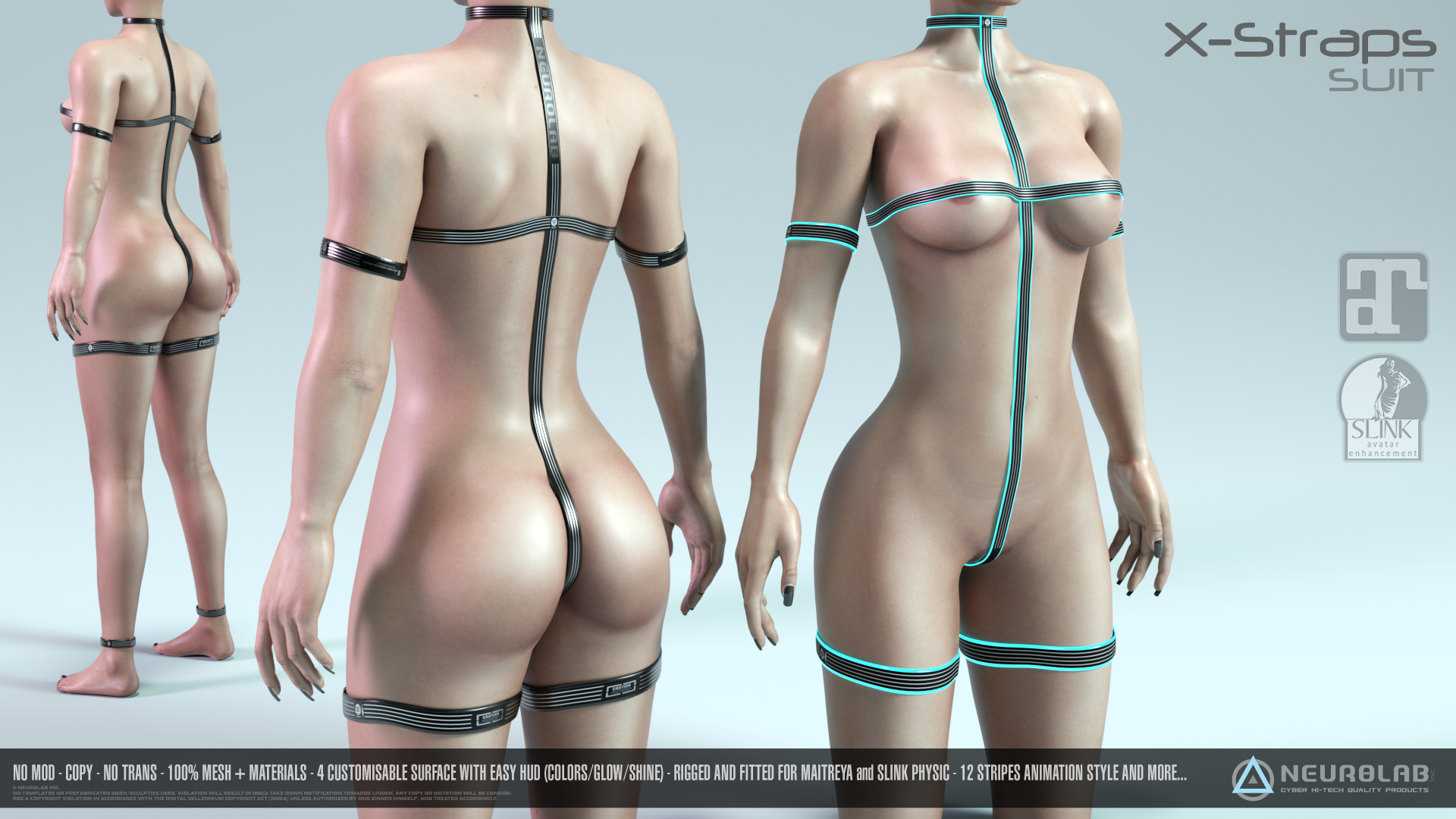 X-Straps Suit (100% MESH Fitted) *NEW*
