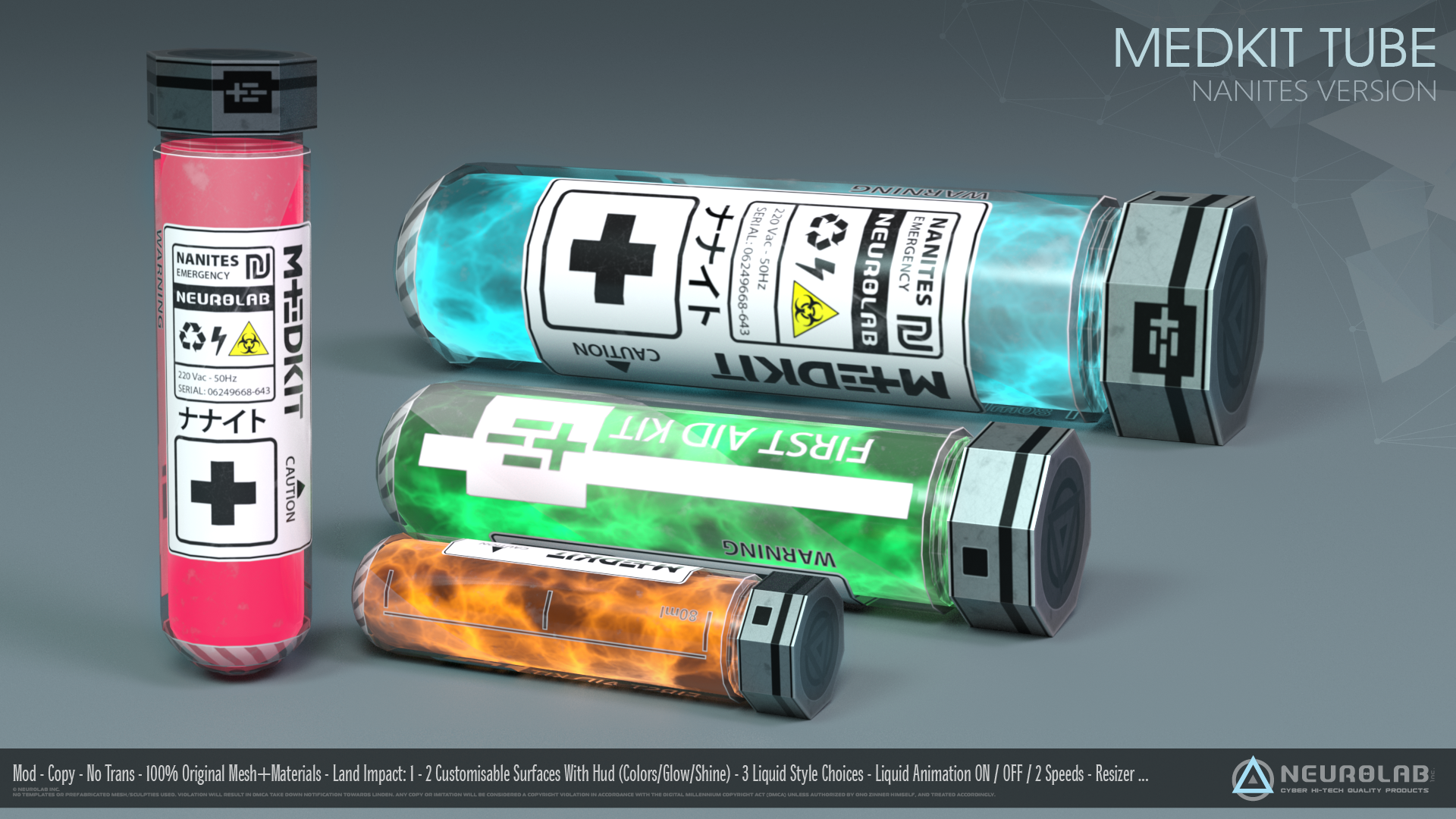 MedKit Tubes Collection *NEW*