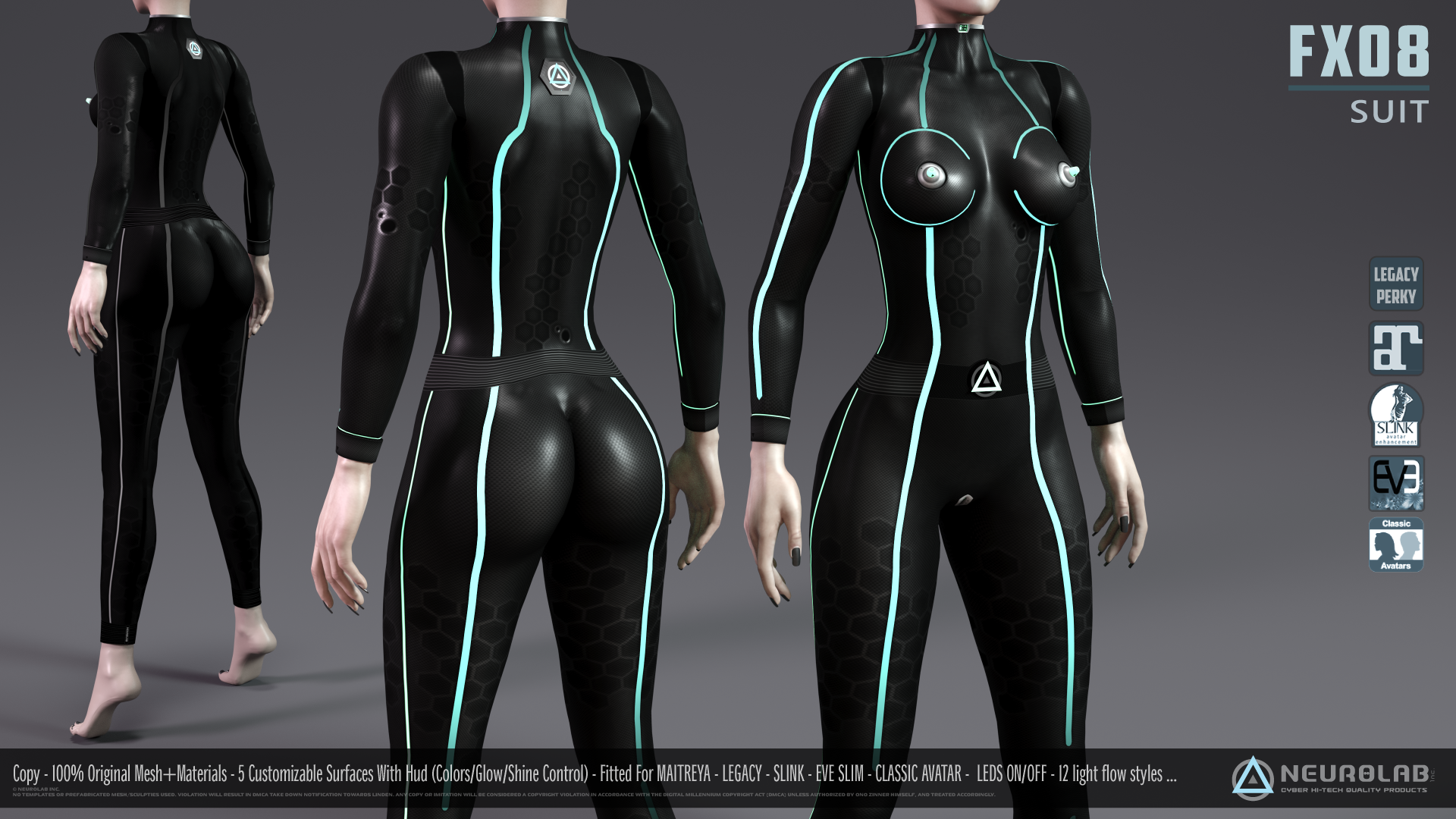 FX08 CatSuit for Women (FITTED) [1.6] *Update*