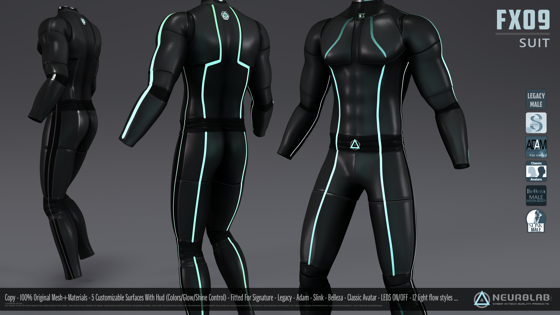FX09 CatSuit for Men (FITTED) [1.6] *Update*