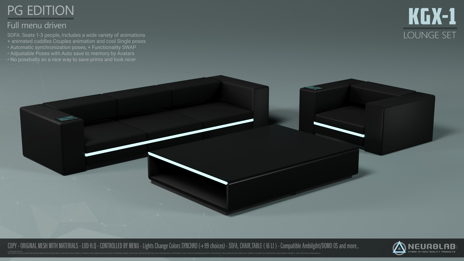 KGX-1 SOFA LOUNGE SET Collection (V.1)