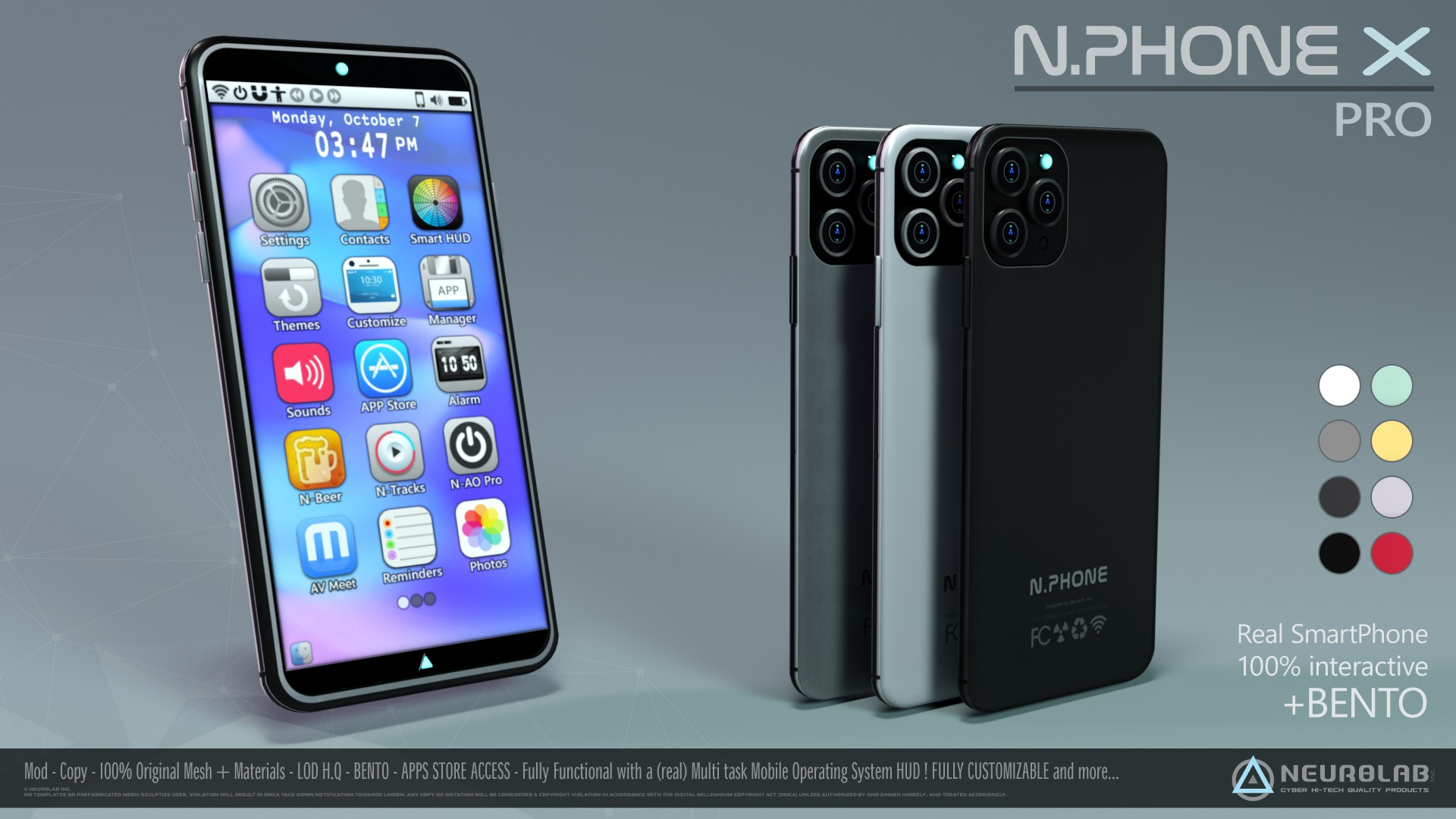 N.PHONE X PRO (Real SmartPhone with AIO HUD) *NEW*