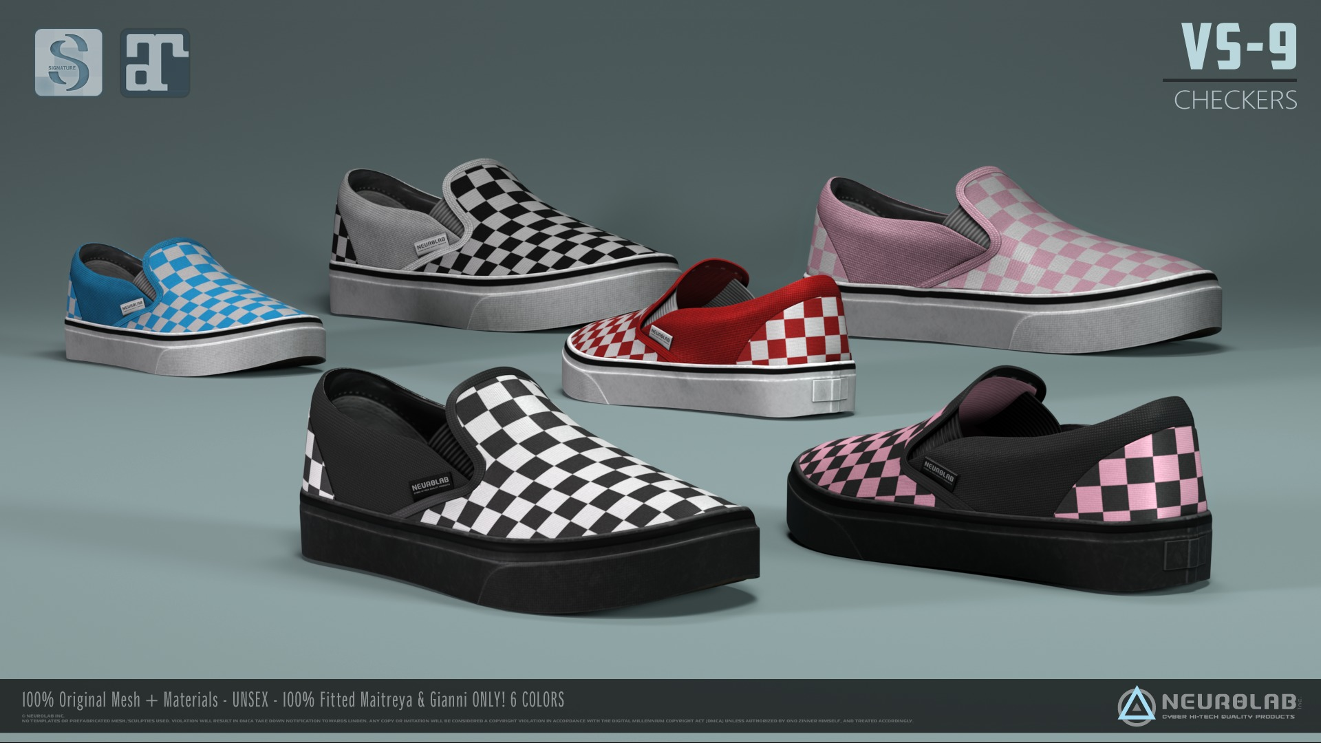 VS-9 SHOES CHECKERS (FITTED) *NEW*