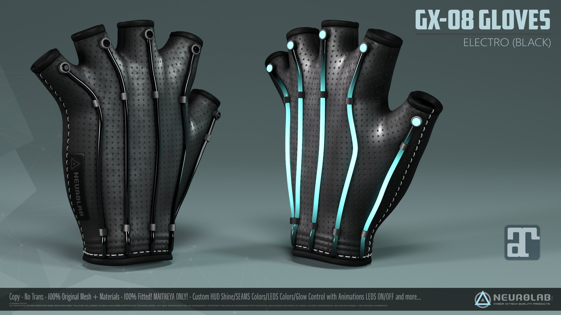 GX-08 GLOVES (BENTO) (Electro BLACK) *NEW*