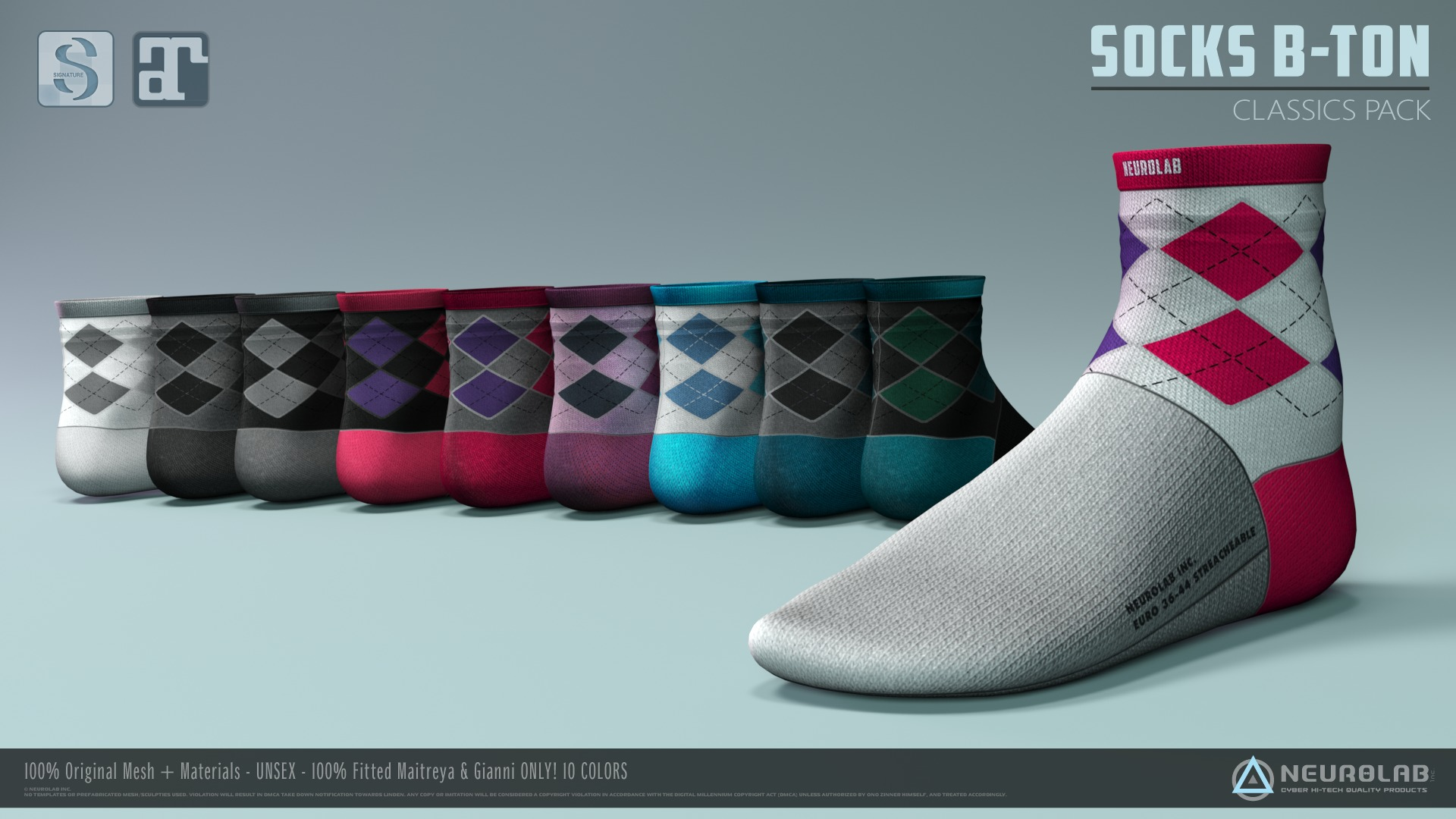 SOCKS B-TON Collection (FITTED) *NEW*