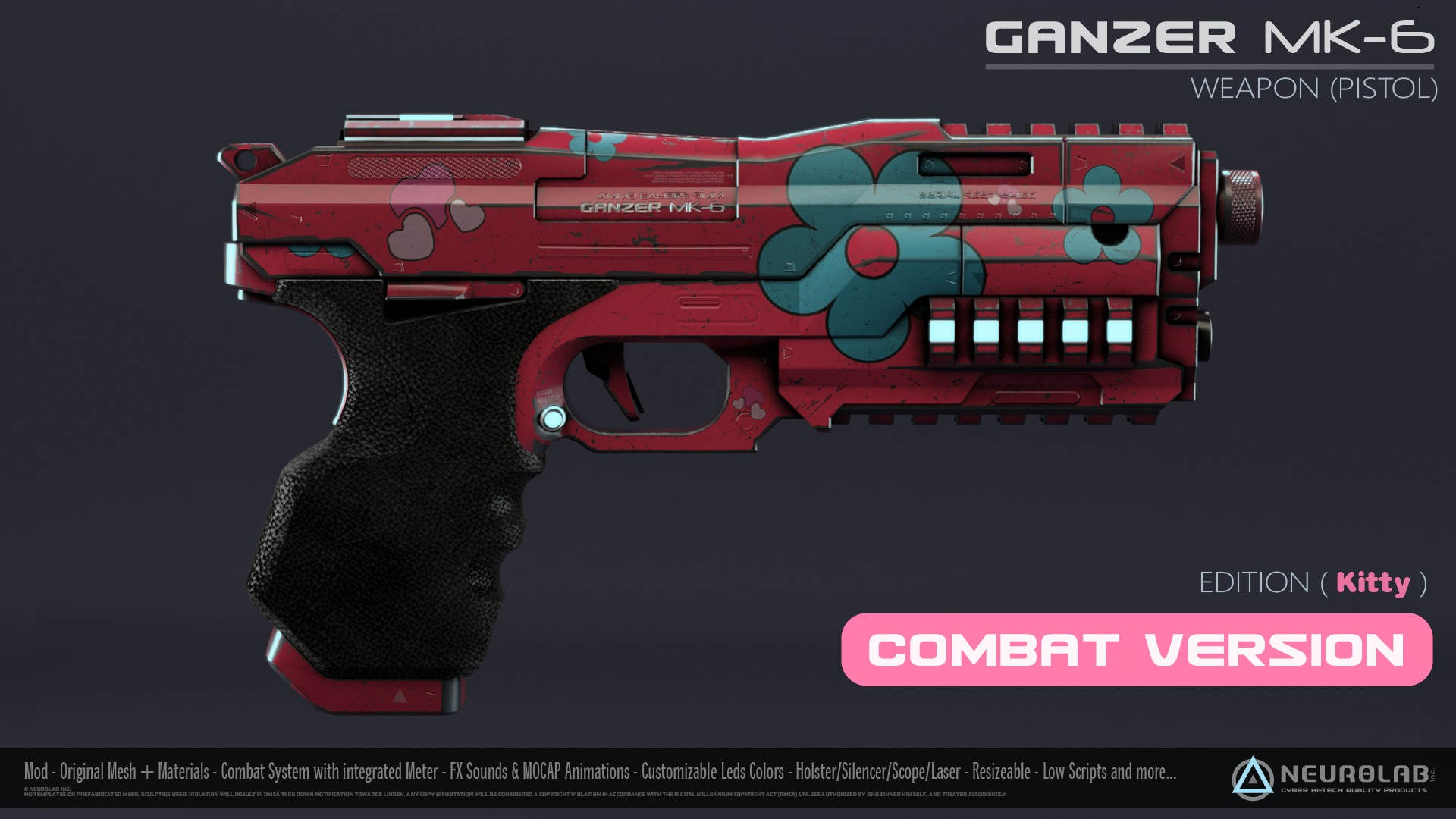 GANZER MK-6 KITTY (Weapon Pistol) V1.1.2 *NEW*