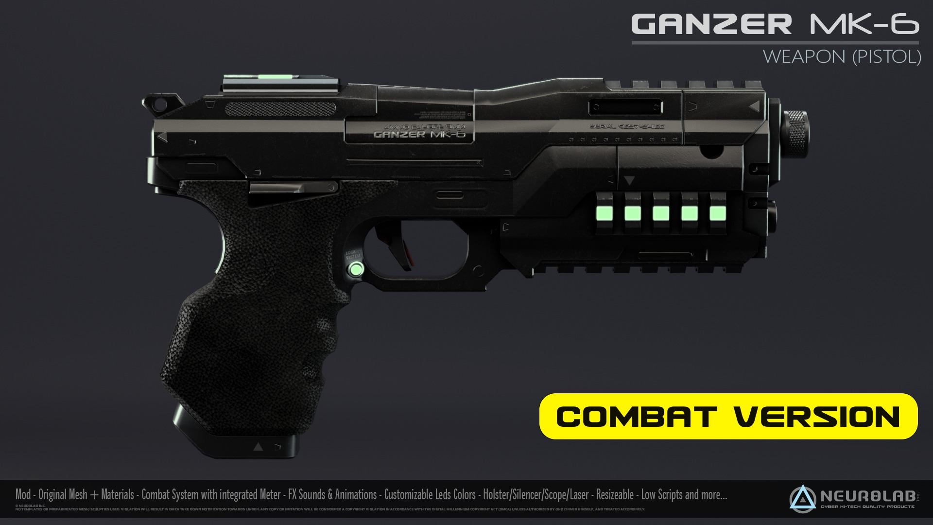 GANZER MK-6 (Weapon Pistol) V1.1.2 *NEW*