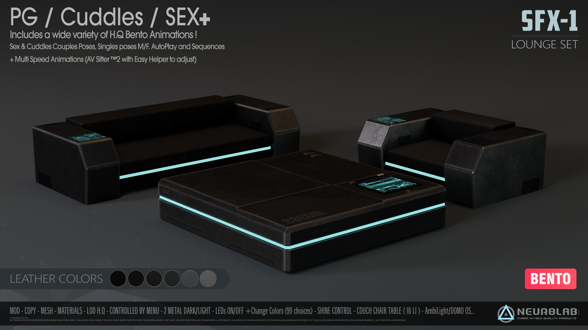 SFX-1 SOFA LOUNGE SET (V.4.5) *Update*
