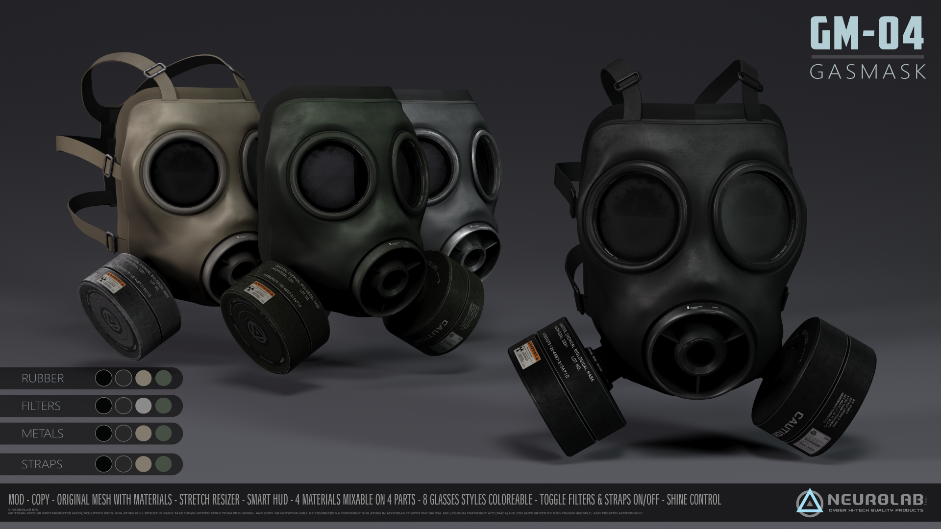 GM-04 GasMask (Classic FatPack) *NEW*