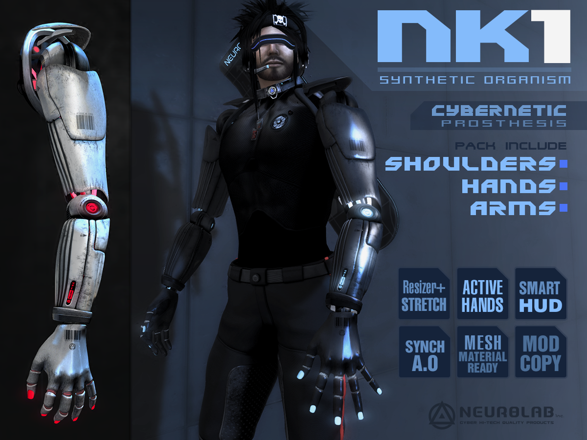 NK1 Cybernetic – PACK ARMS+HANDS W/ Active Poses System (V1.8) [EN]