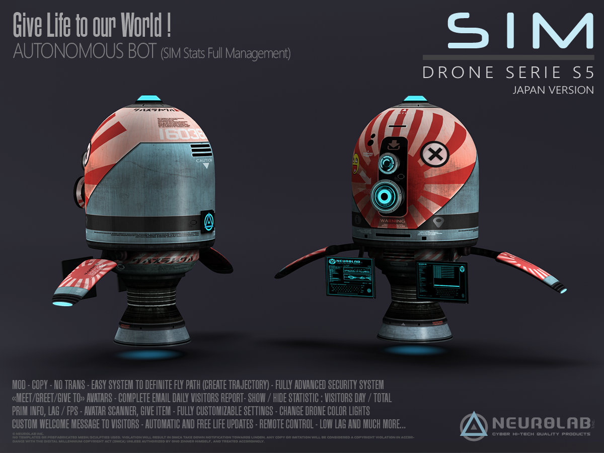 Drones S-5 (Security/Greeter/Visitor Tracking System) (V.5.6) [FR]