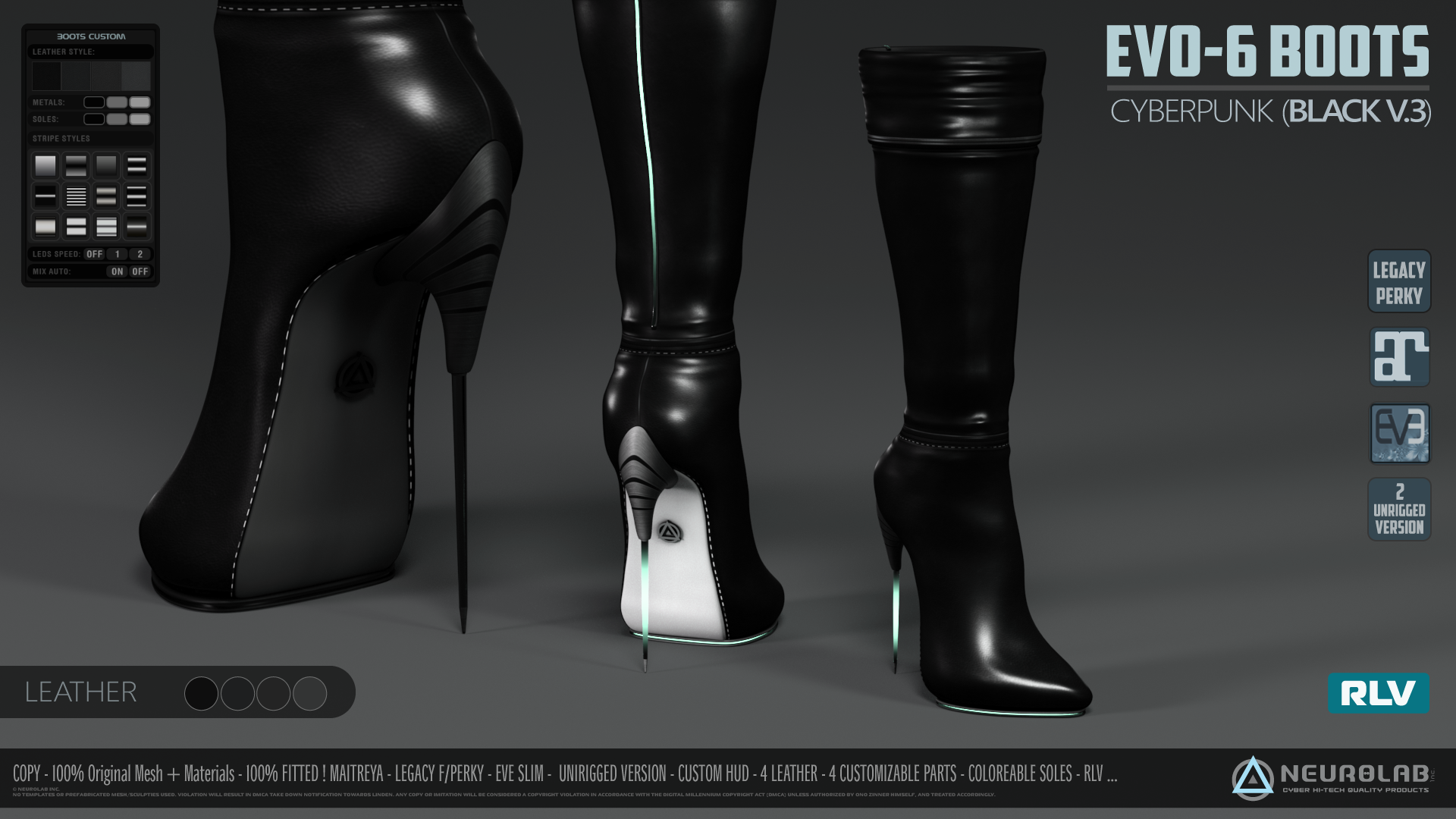 EVO-6 BOOTS Collection (FITTED) [V.3] *Update*