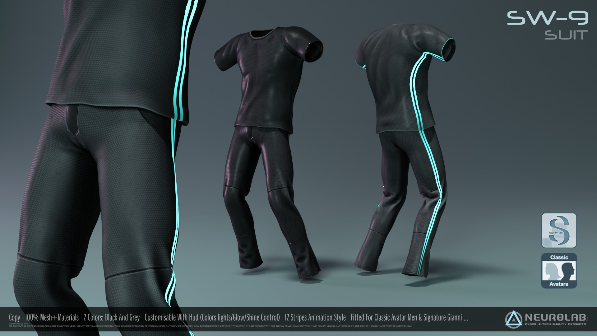 SW-9 Suit for Men (100% MESH FITTED)