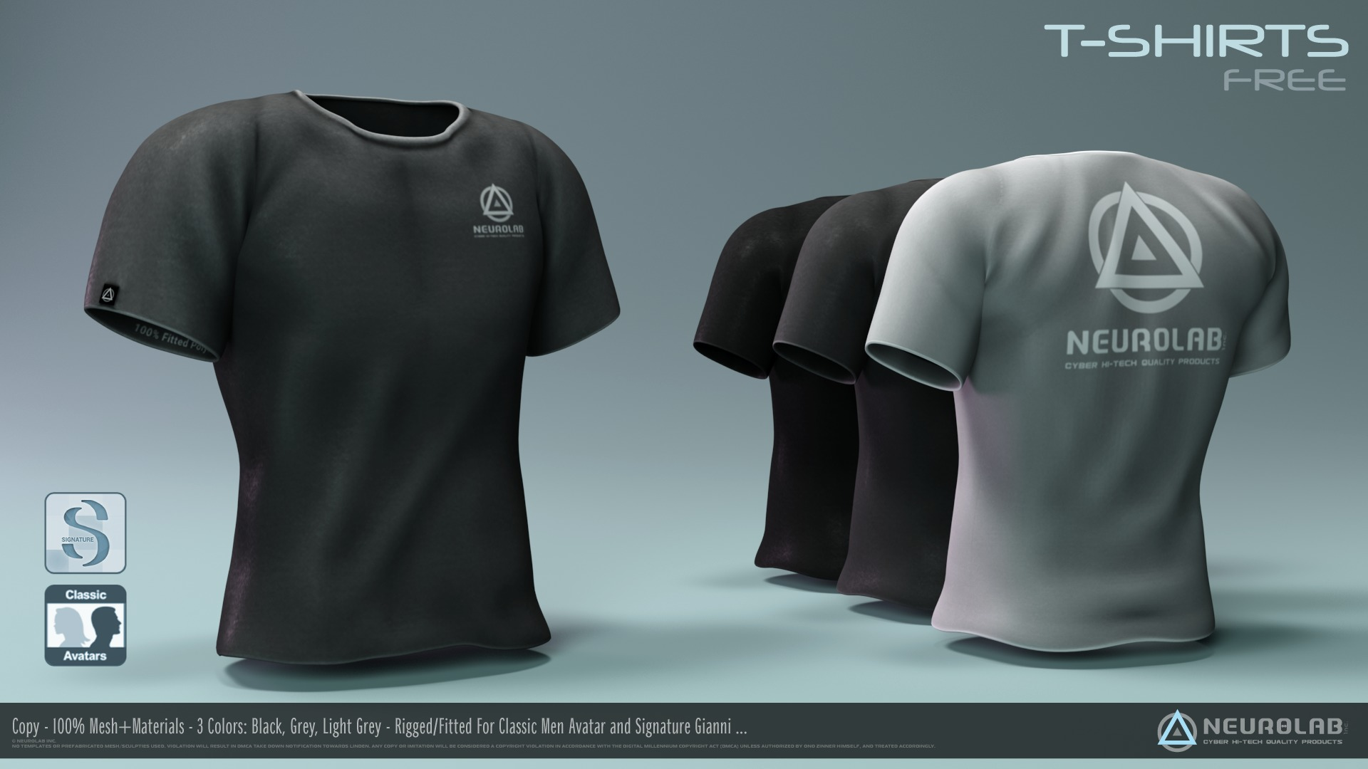 T-Shirts Pack for Men (100% MESH FITTED)