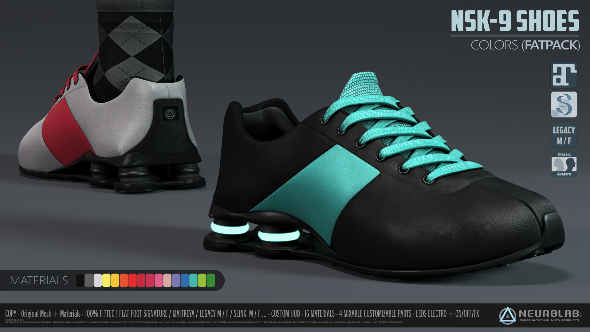 NSK-9 Sneakers (Electro & FatPack) [3.0] *NEW*