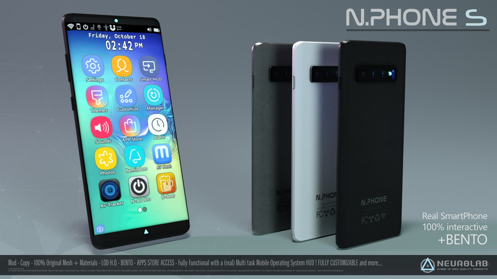 N.PHONE S (Real SmartPhone with AIO HUD) *NEW*