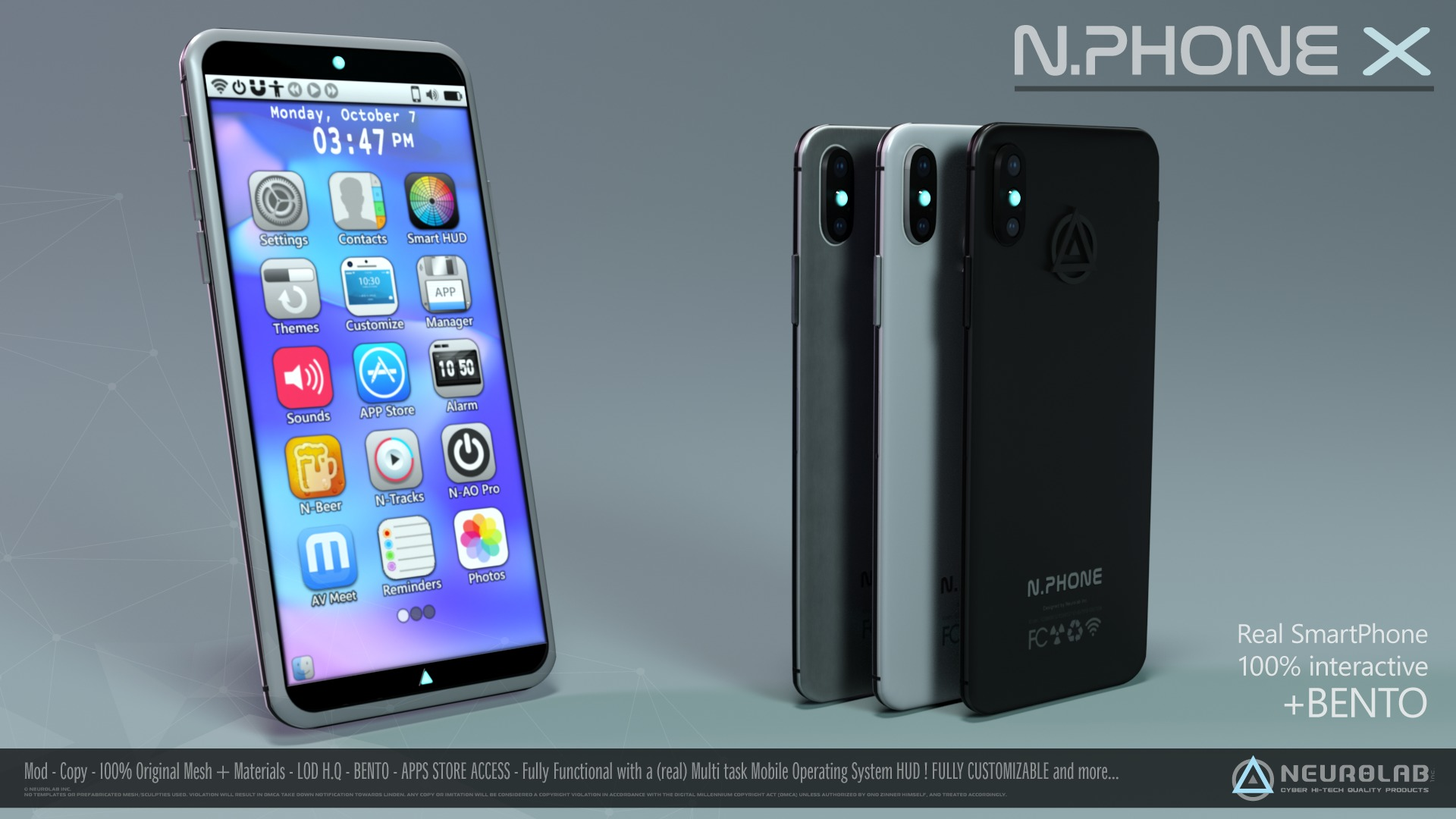N.PHONE X (Real SmartPhone with AIO HUD) *NEW*